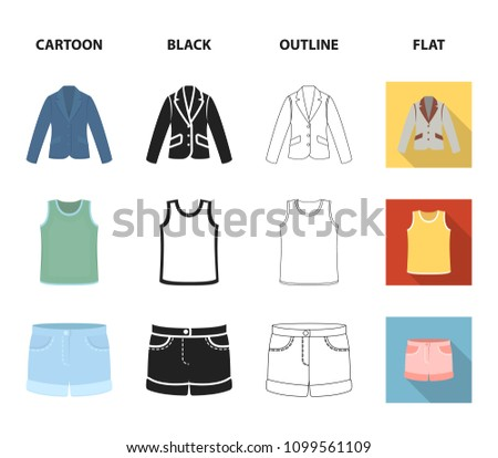 Shirt Long Sleeves Shorts Tshirt Tie Clothing Stock Vector (Royalty