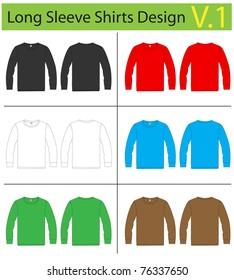 Shirt long sleeves. vector template design