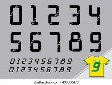 jersey number font