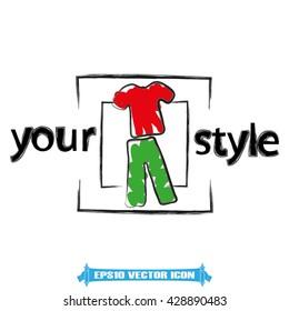 Shirt pants icon vector illustration