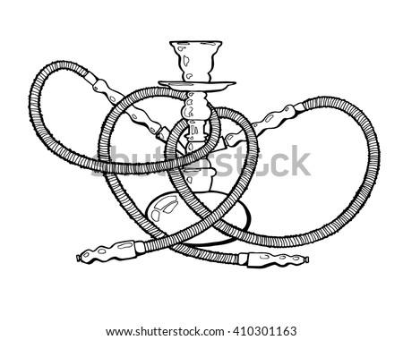 Shisha Hookah Hand Drawn Doodle Vector Stock Vector Royalty Free