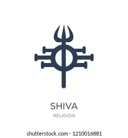 Shiva icon. Trendy flat vector Shiva icon on white background from Religion collection, vector illustration can be use for web and mobile, eps10