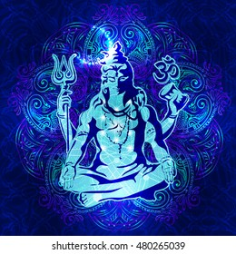 Shiva images stock photos vectors shutterstock shiva the transcendental spiritual image of the in meditation lord shiva sitting in the voltagebd Image collections
