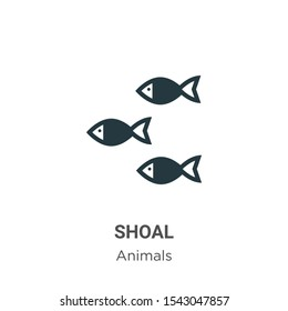 Shoal vector icon on white background. Flat vector shoal icon symbol sign from modern animals collection for mobile concept and web apps design.