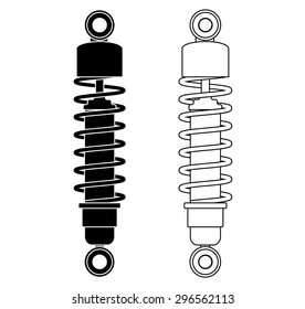 Shock Absorber. Vector illustration isolated on white background