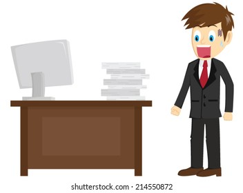 Shocking Businessman See Many Job