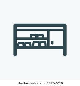 Shoe bench vector icon