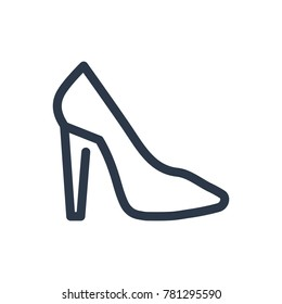 Shoe icon. Isolated stiletto and shoe icon line style. Premium quality vector symbol drawing concept for your logo web mobile app UI design.