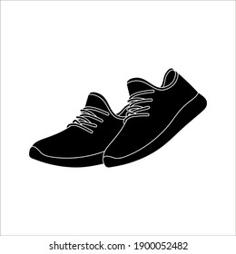 Shoe Icons on White Background. Vector illustration. color editable eps 10