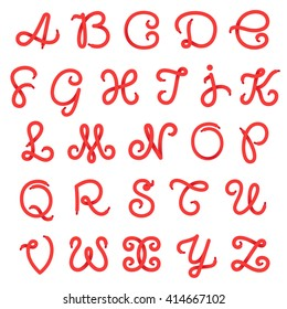 Shoe lace alphabet letters. Vector design template elements for your sport application or corporate identity.