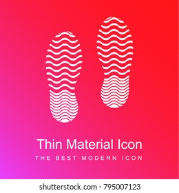 Shoe marks red and pink gradient material white icon minimal design