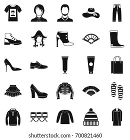Shoe polish icons set. Simple set of 25 shoe polish vector icons for web isolated on white background