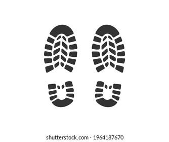 Shoe Prints. Vector illustration. EPS 10.
