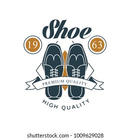 Shoe shop, premium and high quality logo design, estd 1963 vintage badge  for shoemaker