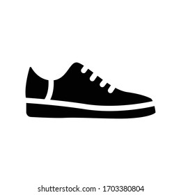 shoe vector glyph flat icon