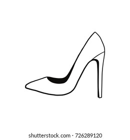 shoe, vector illustration