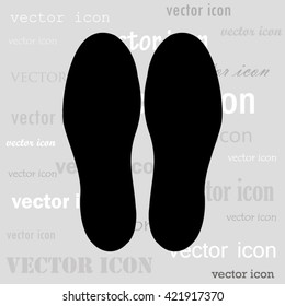 shoeprints black vector icon