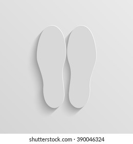 shoeprints vector paper icon