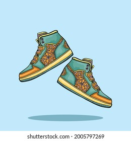Shoes cartoon illustration. flat cartoon style