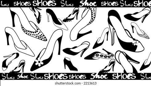 Shoes fashion illustration