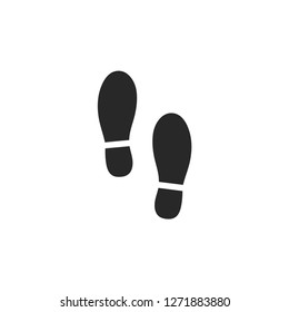 Shoes Footsteps icon vector