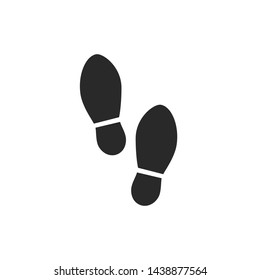 Shoes Footsteps icon vector illustration