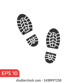 Shoes Footsteps set icon vector on white background. Simple illustration for graphic and web design.