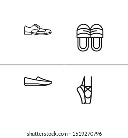 Shoes footwear lineal icon set