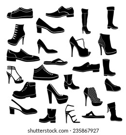 Shoes icon black and white
