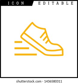 shoes icon isolated sign symbol vector illustration - vector
