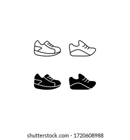 shoes icon isolated sign symbol vector illustration - high quality black style vector icons. Suitable for logo, web, UI, mobile app. Vector graphics.