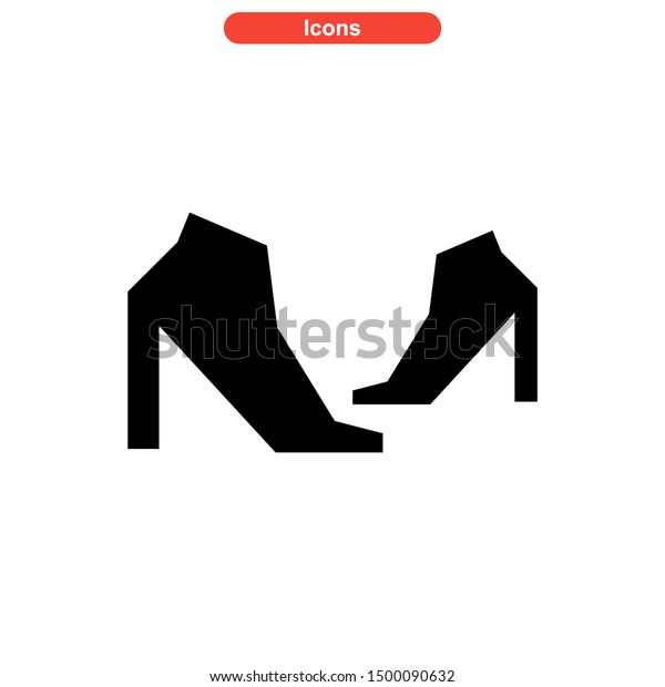 shoes icon isolated sign symbol vector illustration - high quality black style vector icons