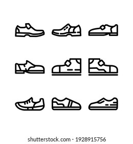 shoes icon or logo isolated sign symbol vector illustration - Collection of high quality black style vector icons