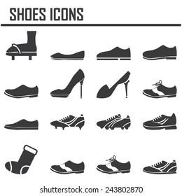 shoes icon set