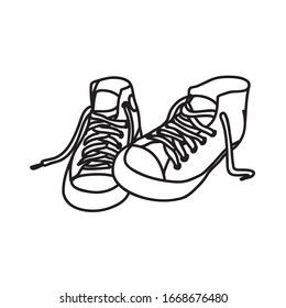 Shoes Illustration with lineart style