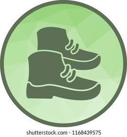 Shoes, leather, walkin