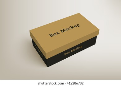 Shoes product packaging mock-up box 1