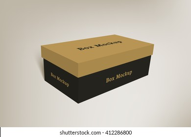 Shoes product packaging mock-up box 2