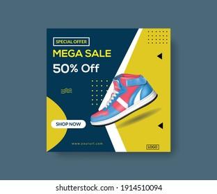 Shoes Sale Post Social Media Banner Design