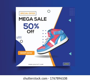 Shoes Sale Post Web Banner Template