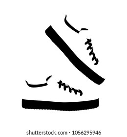 shoes silhouette icon