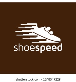 Shoes Speed sport logo icon vector