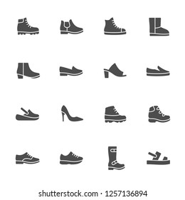 Shoes vector icon set