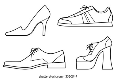 Shoes - Vector Illustration. You'll find more similar images in my portfolio
