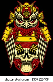 Shogun owl on the skull