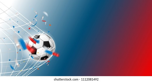 Shoot on goal. Vector template for a text