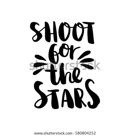 Shoot Stars Blackwhite Modern Stylish Hand Stock Vector Royalty