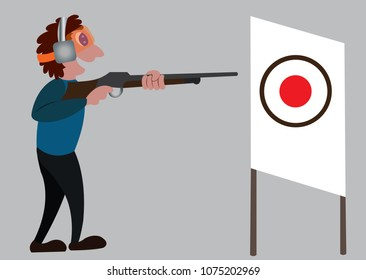 a shooter aims at a target in a sport