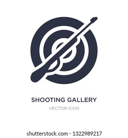 shooting gallery icon on white background. Simple element illustration from Other concept. shooting gallery sign icon symbol design.