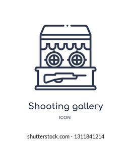 shooting gallery icon from other outline collection. Thin line shooting gallery icon isolated on white background.